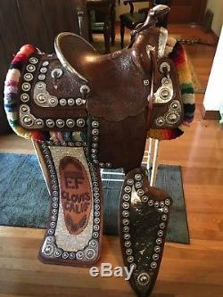 Antique Vintage Visalia Silver Parade Saddle Western Memorabilia
