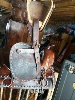 Antique Western Dots Pony Miniature Horse Saddle, Rare Find
