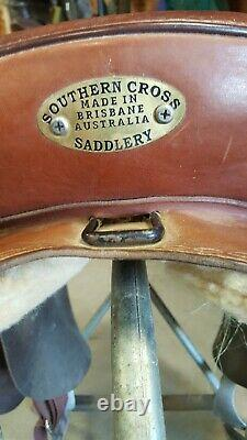 Australian Southern Cross Poley 16 Saddle, full QH bars