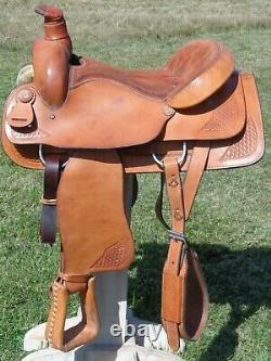 BLUE RIDGE 17 HeavyDuty Leather Western Roping Ranch SaddleNew CondMade USA