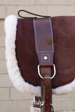 Bareback Pad W Stirrups Trail Western English Horse Saddle Blanket Used