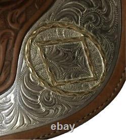 Beautiful Circle Y 15.5 Western Pleasure Equestrian Show Saddle Light Brown