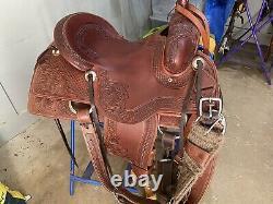 Beautiful Diamond K Tooled Western saddle