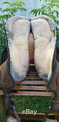Big Horn Brown Cordura Trail 499 Western Saddle 14 Super Lightweight SQHB