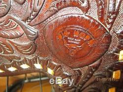 Big Horn Western Saddle, Buck-Stitch, Hand Tooled, Excellent Condition, 15 inch