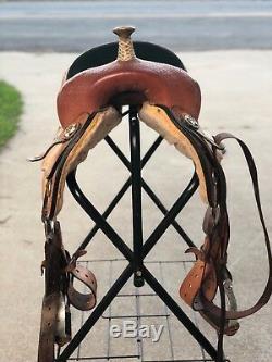 Big Horn barrel racing saddle 15.5 seat