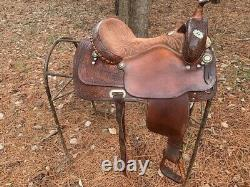 Billy Cook 16 Western Longhorn Adult Saddle Roping Barrel Trail Leather