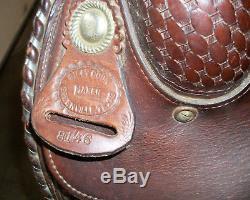 Billy Cook Maker Greenville Tx Western Trail Ranch Horse Saddle 15 Sqhb Dark