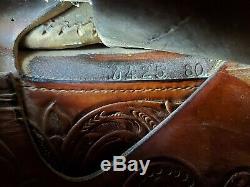 Billy Cook Western Saddle Greenville TX #1852 Square Skirt Fully Tooled 15 Seat