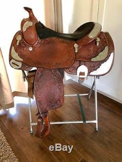 Billy Royal 16 Medium Oil Western Silver Show Saddle