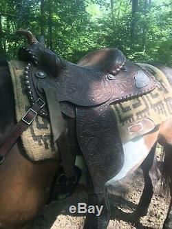 Billy Royal Supreme 15 Vintage Sterling Silver FQHB Western Saddle