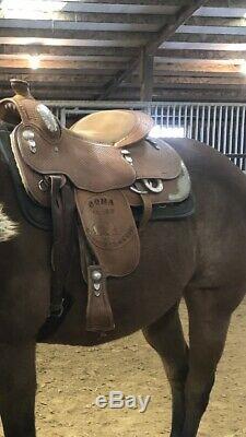 Blue Ribbon Western Show Saddle 16