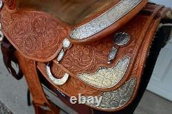 Bob's Custom BOB AVILA Western Reining Saddle STERLING SILVER Floral Tool 16