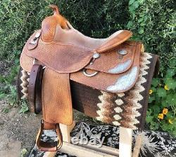 Bobs Custom Western Saddle Randy Paul Reiner 16 Tree with xtra long fenders