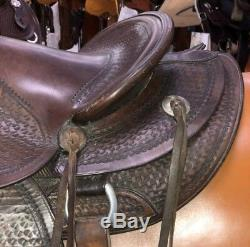 Bona Allen 15 Vintage Ranch/Trail Saddle Pre-Owned Fair Condition