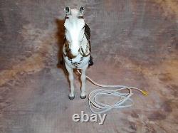 Breyer Alabaster Western Horse Night Light withSaddle & Reins -as is-