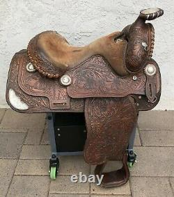 Broken Horn 15 Seat Sterling Silver Leather Western Pleasure Show Trophy Saddle