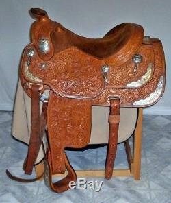 Broken Horn Show Saddle Set silver plate saddle, bridle and breastcollar