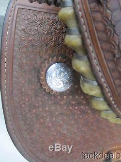 Cactus Ostrich 15 Seat Barrel Saddle Used Great Condition