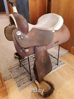 Circle Y 15 Jeanie Bowersock Sweepstakes Edition Western Barrel Saddle FQHB