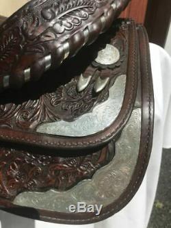 Circle Y Arabian Sterling Silver Softee Western Saddle w Breast Collar Set