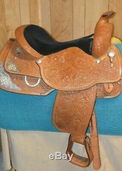 Circle Y Equitation Western Silver Show Saddle Set 16 inch