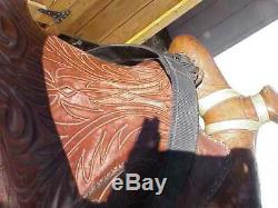 Circle Y Texas 15 Beautiful Used Western Trail Saddle Fully Tooled Free Ship
