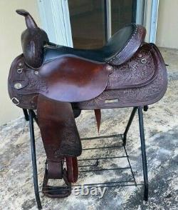 Circle Y Western Horse Saddle, Great Condition, 17 Seat, Semi QH Bars