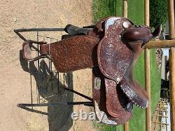 Circle Y Western Pleasure Equitation Show Brown 15 Western Saddle