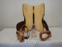 Circle Y Western Pleasure Equitation Show Saddle, Tan, Lightly Used