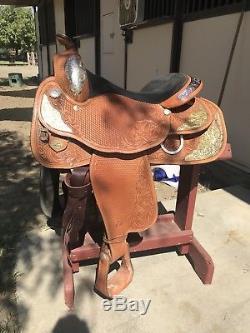 Circle Y Western Pleasure Show Saddle 16 Seat Western Equitation Saddle