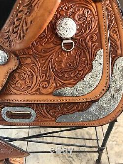 Circle Y Youth Equitation Show Saddle Western Pleasure Silver Package 13 Inch