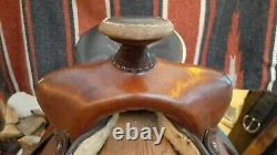 Circle Y western saddle 15, felt pad + cinch
