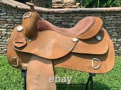 Classic Star PRO-SERIES Western Roughout Training Saddle Made in TX 16 Pleasure