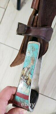 Corriente Barrel Saddle 15 Leather Western Horse Tack Rough Out Pencil Roll