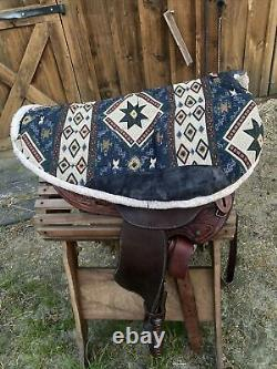 Crates 15 inch Western Saddle with Round Skirt