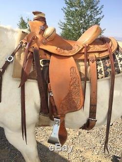 Custom 16 inch wade ranch saddle by Jim Gill of Idaho