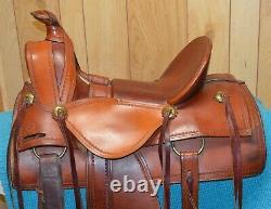 Custom DR Schrader Western Loop Seat Ranch Saddle 15.5 seat