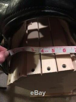 Custom Made Black Leather Western Saddle 16 Semi QH Bars. Beautifully tooled