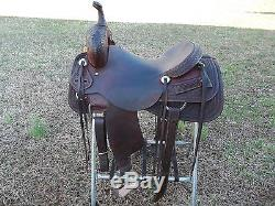 Cutting Saddle/ Custom Jeff Smith 16 Inch Hard Seat