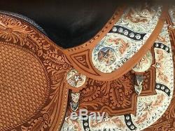 Dale Chavez 15.5 Light Oil Rio Western Show Saddle