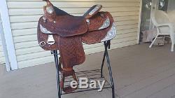 Dale Chavez 16 Western Show Saddle, Medium Oil