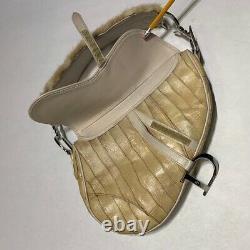 Dior Saddle Bag Mink Fur and Eel Leather RARE
