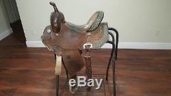 Double J Saddlery Brittany Pozzi Barrel Saddle-WIDE TREE