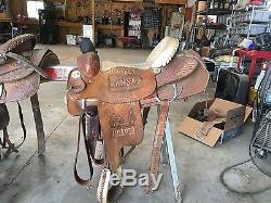 Double J Trophy Roping Saddle