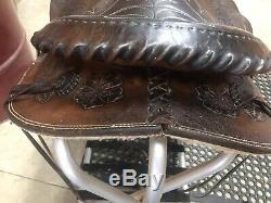Fallis Saddlery Balanced Ride Western Equitation Tooled Saddle 15