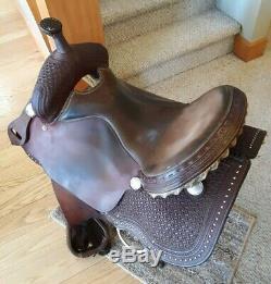 Fort Worth Saddle Company Texas Western Leather Saddle FQHB 16 seat