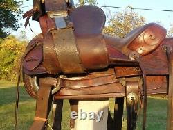 G. H. VAUGHT 15 High QUALITYTOOLED Western Ranch Saddle withTAPADEROS100% USABLE