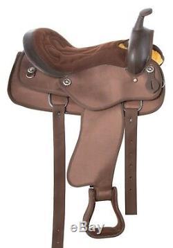 Gaited Western Synthetic Pleasure Trail Horse Saddle Tack Set Used 16 17