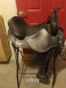 Gently Used Black Custom Rider's Choice G. W. Crate Trail Saddle
